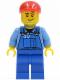Minifig No: cty0134a  Name: Farm Hand, Blue Overalls, Short Bill Cap