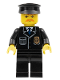 Minifig No: cty0153  Name: Police - City Suit with Blue Tie and Badge, Black Legs, Brown Moustache, Black Hat