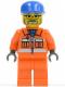 Minifig No: cty0158  Name: Sanitary Engineer 3 - Orange Legs, Glasses and Beard