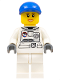Minifig No: cty0225  Name: Spacesuit, White Legs, Blue Short Bill Cap, Eyelashes