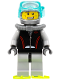 Minifig No: cty0257  Name: Diver - Wide Grin