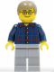 Minifig No: cty0270  Name: Plaid Button Shirt, Light Bluish Gray Legs, Dark Tan Male Hair, Glasses