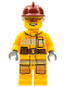 Minifig No: cty0338  Name: Fire - Bright Light Orange Fire Suit with Utility Belt, Dark Red Fire Helmet, Orange Sunglasses