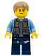 Minifig No: cty0356  Name: Police - LEGO City Undercover Chase McCain, Dark Blue Legs
