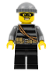 Minifig No: cty0358  Name: Police - City Burglar, Dark Bluish Gray Knit Cap, Mask