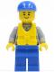 Minifig No: cty0408  Name: Coast Guard City - Crew Member, Blue Cap