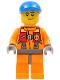 Minifig No: cty0409  Name: Coast Guard City - Rescuer, Orange Jacket