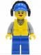 Minifig No: cty0410  Name: Coast Guard City - Crew Member Female, Blue Cap with Hole, Headphones