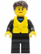 Minifig No: cty0413  Name: Coast Guard City - Sailor in Wetsuit
