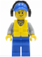 Minifig No: cty0418  Name: Coast Guard City - Crew Member Male, Blue Cap with Hole, Headphones