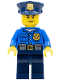 Minifig No: cty0476  Name: Police - City Officer, Gold Badge, Police Hat, Scowl