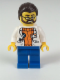 Minifig No: cty0494  Name: Arctic Scientist - Dark Brown Hair, Beard