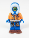 Minifig No: cty0497  Name: Arctic Explorer, Male with Green Goggles and Snowshoes