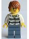 Minifig No: cty0514  Name: Swamp Police - Crook Female with Dark Orange Hair