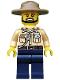 Minifig No: cty0517  Name: Swamp Police - Officer, Shirt, Dark Tan Hat, Black Beard
