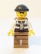 Minifig No: cty0522  Name: Swamp Police - Crook Male with Dark Bluish Gray Knit Cap and Backpack