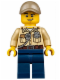 Minifig No: cty0523  Name: Swamp Police - Officer, Shirt, Dark Tan Cap
