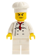 Minifig No: cty0532  Name: Chef - White Torso with 8 Buttons, White Legs, Angry Eyebrows