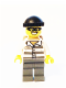 Minifig No: cty0537  Name: Police - Jail Prisoner 86753 Prison Stripes, Black Knit Cap, Backpack, Mask