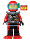 Minifig No: cty0559  Name: Scuba Diver, Female, Red Flippers