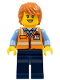 Minifig No: cty0571  Name: Service Car Female Driver