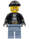 Minifig No: cty0621  Name: Police - City Bandit Male with Brown and Gray Beard, Black Knit Cap