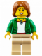 Minifig No: cty0624  Name: Camper - Female, Tan Legs