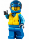 Minifig No: cty0646  Name: Race Boat Driver