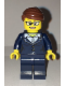 Minifig No: cty0656  Name: Businesswoman - Dark Blue Pants Suit, Glasses