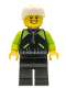 Minifig No: cty0658  Name: Cyclist - Lime and Black Jacket