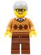 Minifig No: cty0659  Name: Grandfather - Medium Dark Flesh Argyle Sweater, Light Bluish Gray Hair
