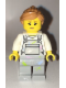 Minifig No: cty0661  Name: Fence Painter - Pink Lips, Light Bluish Gray Overalls with Paint Splatters