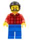 Minifig No: cty0664  Name: Flannel Shirt, Blue Legs, Black Hair, Beard