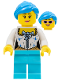 Minifig No: cty0721  Name: Female Drummer