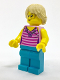 Minifig No: cty0725  Name: Ice Cream Vendor - Top with Necklace