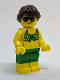 Minifig No: cty0763  Name: Beachgoer - Green Bikini Top and Shorts