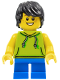 Minifig No: cty0771  Name: Beachgoer - Boy, Lime Hoodie and Blue Legs