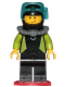 Minifig No: cty0797  Name: Coast Guard City - Diver, Black Wetsuit with White Logo