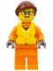 Minifig No: cty0812  Name: Coast Guard City - Female Raft Pilot