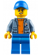 Minifig No: cty0813  Name: Coast Guard City - 4 x 4 Driver