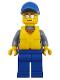 Minifig No: cty0824  Name: Coast Guard City - Rescue Boat Pilot