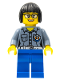 Minifig No: cty0861  Name: Coast Guard City - Female Station Manager, Short Black Hair with Glasses