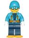 Minifig No: cty0906  Name: Arctic Explorer Female - Ski Beanie Hat, Light Blue Ski Goggles, Snowshoes