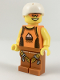 Minifig No: cty0917  Name: Rock Climber, Orange Tank Top, Dark Orange Legs with Clips, White Sports Helmet