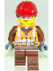 Minifig No: cty0934  Name: Construction Worker, Female, Helmet with Ponytail, Sunglasses