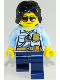 Minifig No: cty0936  Name: Police Officer, Female, Dark Blue Legs, Sunglasses
