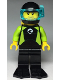Minifig No: cty0958  Name: Diver, Male, Black Flippers and Wetsuit with White Logo, Yellow Scuba Tank