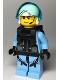 Minifig No: cty0995  Name: Sky Police - Jet Pilot with Neck Bracket (for Jetpack)