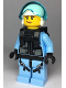 Minifig No: cty1000  Name: Sky Police - Jet Pilot, Female with Neck Bracket (for Parachute)