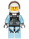 Minifig No: cty1003  Name: Sky Police - Jet Pilot, Female with Neck Bracket (for Jetpack)